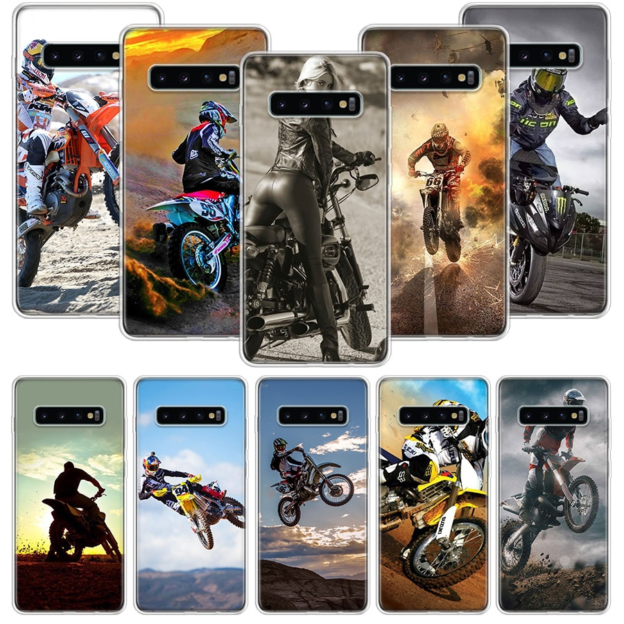 Чехол для мотокросса moto cross dirtbikes для Samsung Galaxy S20 Ultra Note 10 9 8 S10E S9 S8 J4 J6 J8 Plus + Pro S7 S6 Soft Phone Coq