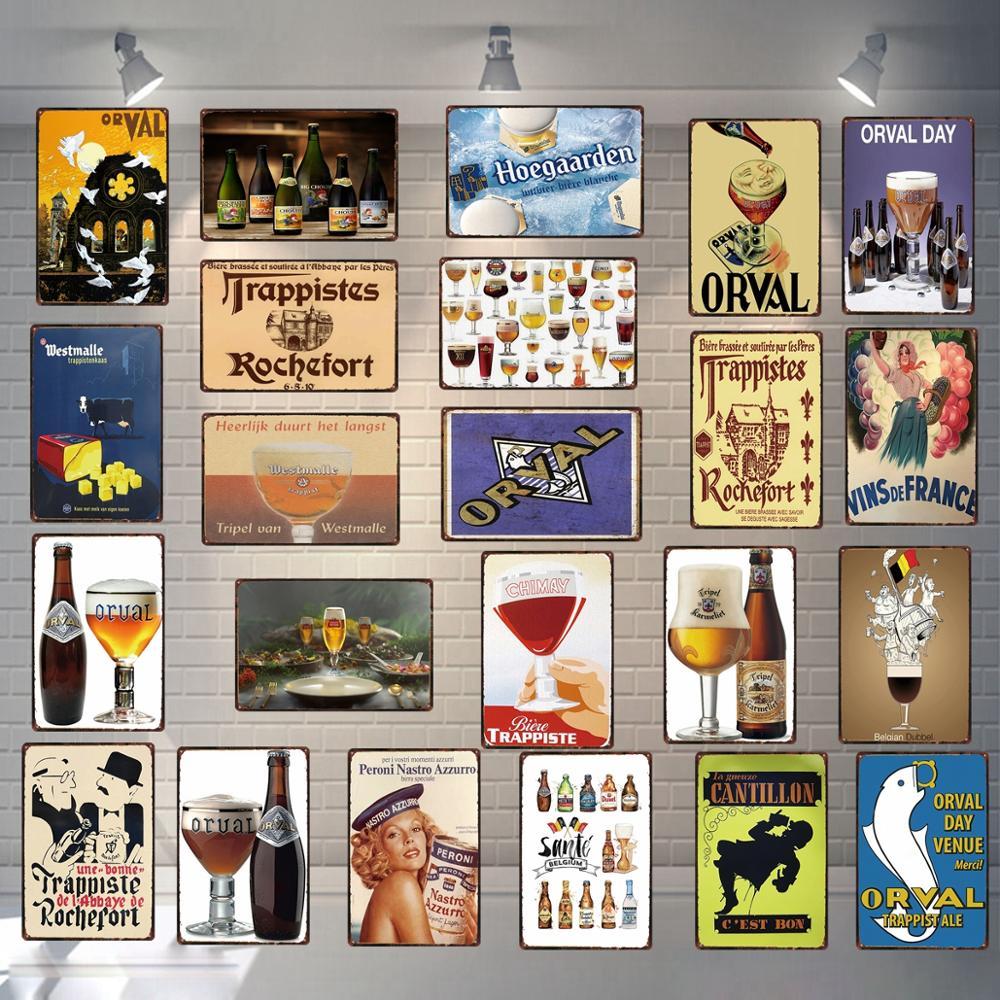 Металлическая винтажная табличка для вывески пива, кофейного вывески для украшения стен, домашнего магазина, винтажного ресторана 30X20CM DU-3599A