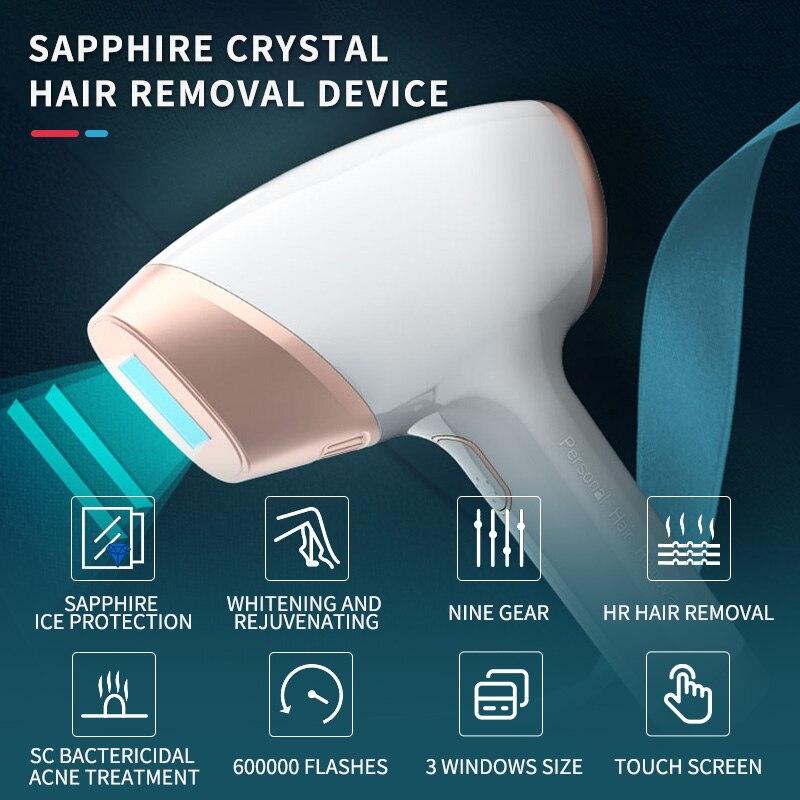 Sapphire Cooling Laser Epilator IPL Hair Removal Acne Treatment Home Use Permanent Painless Depiladora Laser for Women Men enlarge