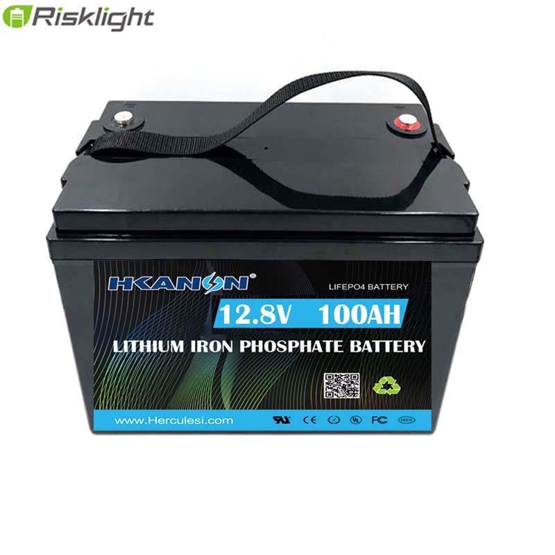 Bateria 12.8v  Lifepo4 Battery 12V 100Ah Lithium Ion Battery Packs For RV Solar System Yacht Golf Carts