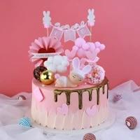 copyright bake cake decoracion de fiestas y eventos toys cute bunny doll ornaments birthday wedding cake plug in cupcake topper