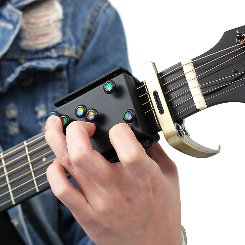 NEW Guitar Learning System Teaching Practrice Aid with 21 chords Lesson Guitar Chord Trainer Practice Tools Accessories part enlarge