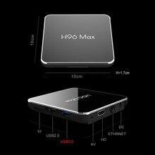 H96 MAX X2 Android 9.0 Smart TV Box Amlogic S905X2 4 go de RAM 32 go 64 go ROM Quad Core 2.4G 5GHz Wifi Bluetooth 4K Youtube Netflix