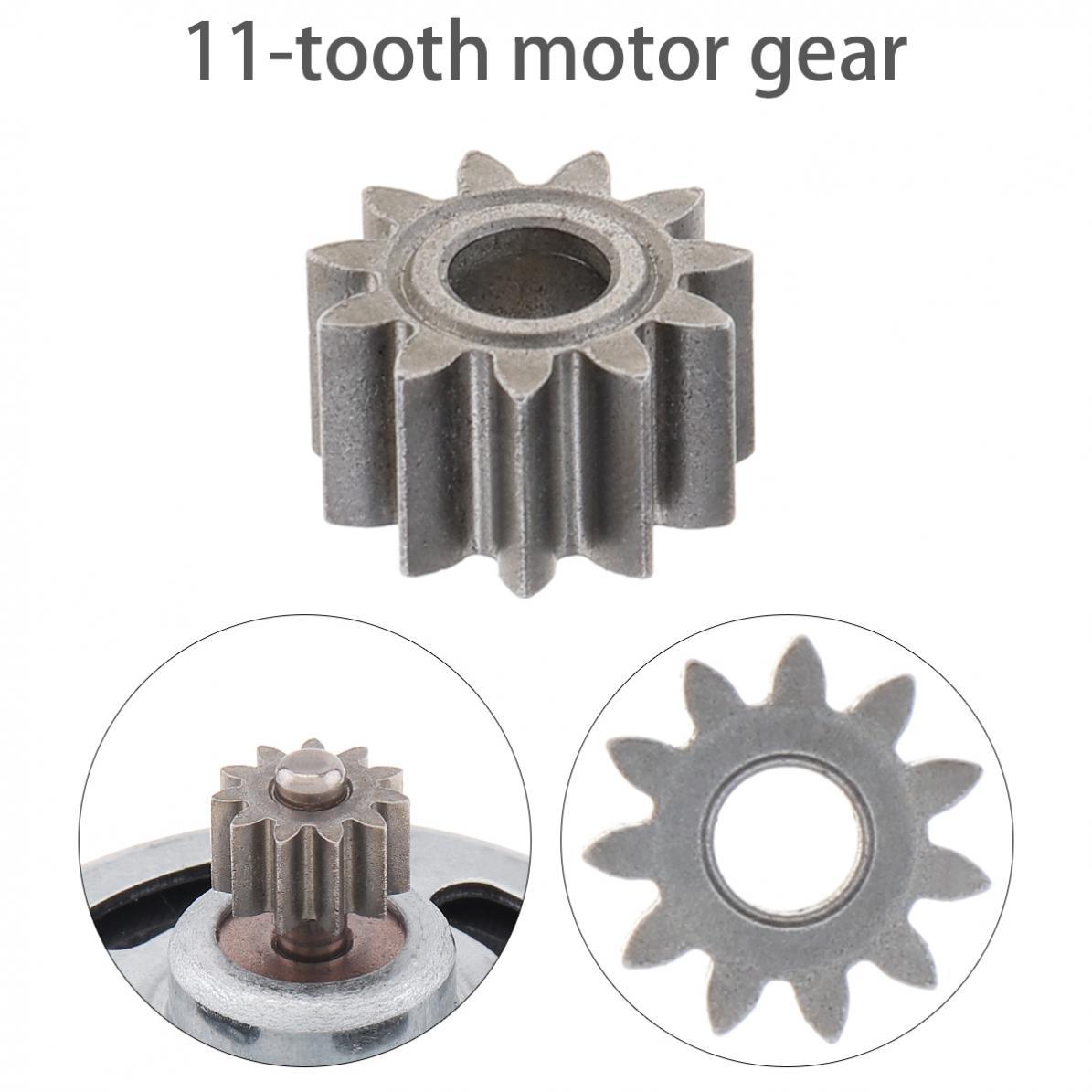 Motor Gear 1 Mod 11 Teeth Replaceable Motor Gear for RS550 10.8V / 12V / 14.4V / 16.8V / 18V / 21V DC Motor rs550 dc motor 12v 16 8v 21v 25v 19500 rpm dc motor two speed 9 12 teeth high torque gear box for electric drill screwdriver