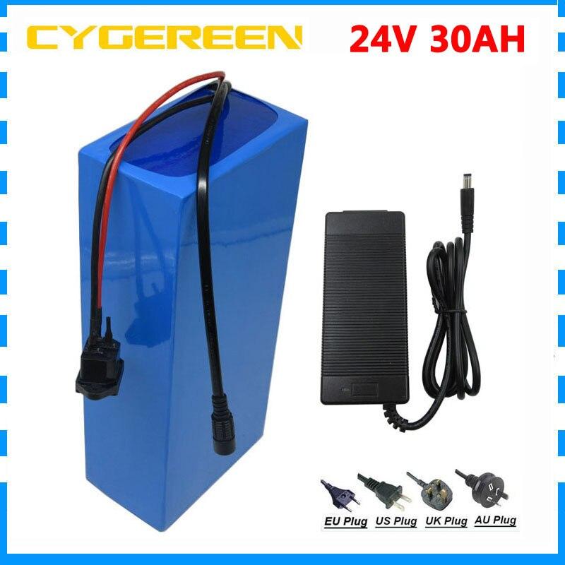 Высокая емкость 1000 Вт 24 Вольт литий-ионный аккумулятор 24v 30ah 35ah Электрический велосипед батарея с 3A зарядное устройство и 50A BMS Бесплатная та...