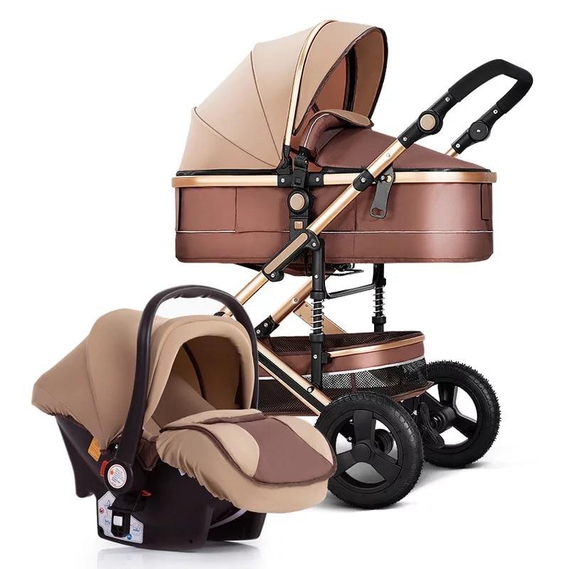 Фото - Новая Роскошная детская коляска высокого качества 3 в 1, детская коляска, портативная детская коляска, детская коляска, комфортная коляска д... коляска