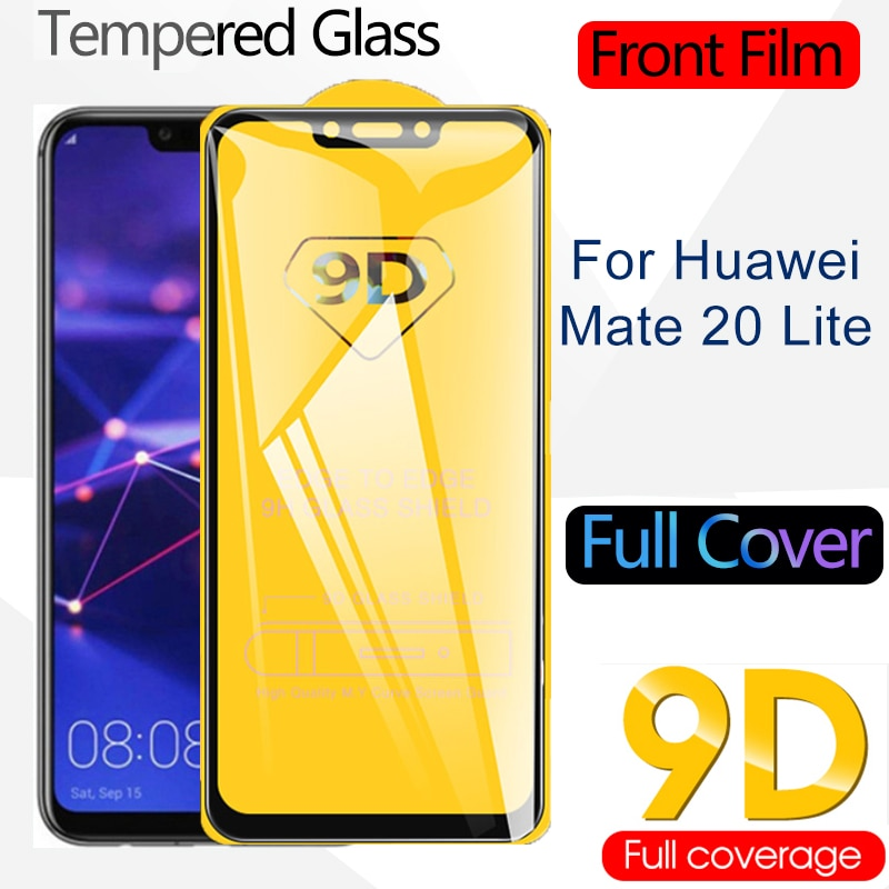 9D Full Curved Tempered Glass for Huawei Mate 20 10 Lite Screen Protector Safety Protective Front Film Full Cover 20lite 10lite