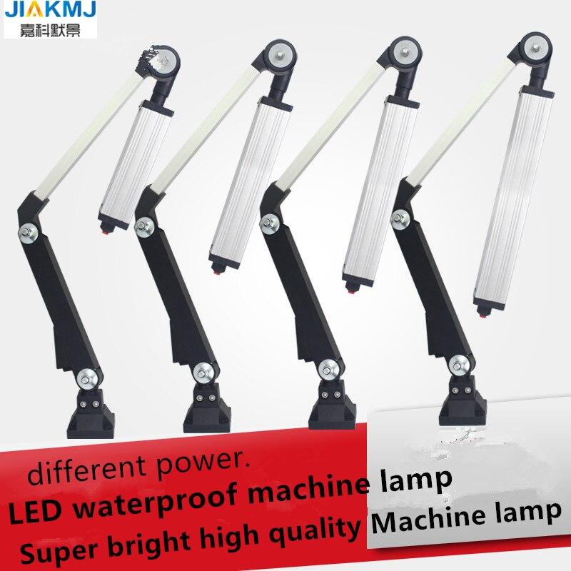 Led 16 W-40 W 24 V/220 V aluminio miniatura brazo largo plegable Universal luz de trabajo a prueba de golpes resistente al aceite impermeable máquina CNC lámpara