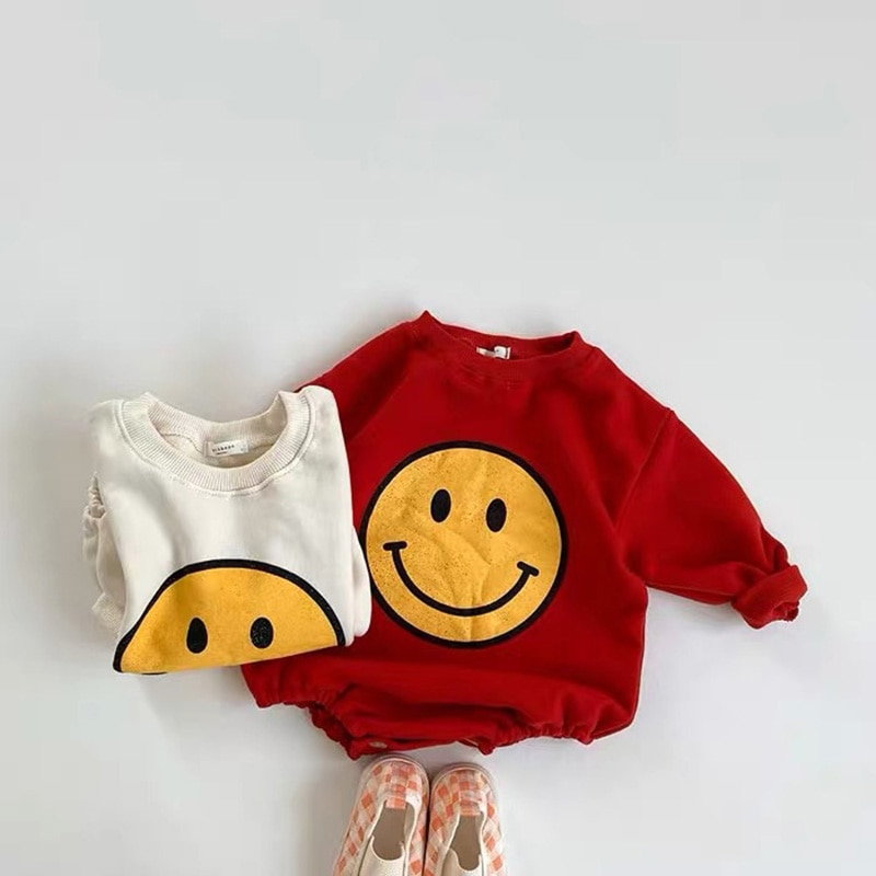 AliExpress - MILANCEL 2020 baby bodysuit sports style baby boys clothes big smile face infant girls clothes baby one piece