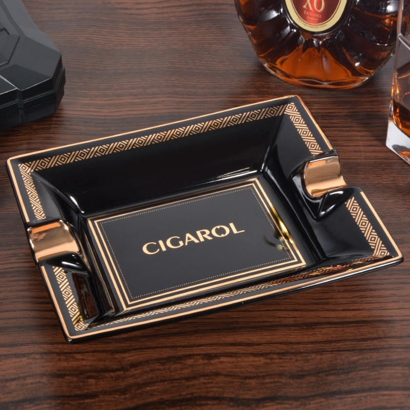 Cigar Ashtray Ceramic High-End Cigar Ashtray Creative Cigarette Holder Ash Tray Roach Clip Smoke Cute enlarge