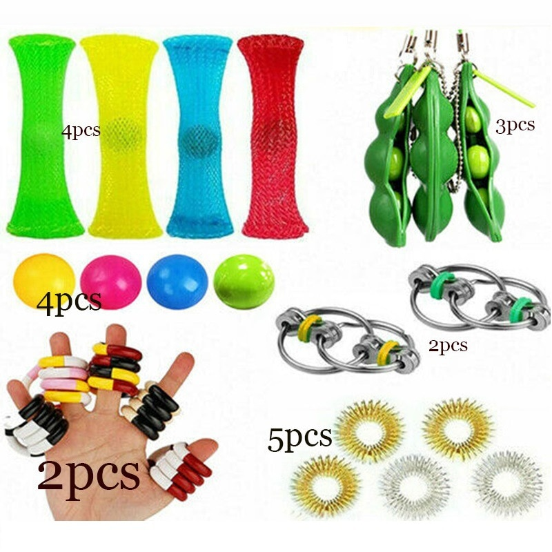 Fidget Toy Set Durable Decompression Stress Reliever Toy Simple Dimple Fidget Toy Set Pack Gift Pack Adults Children enlarge