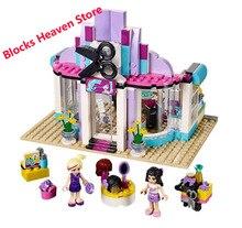 10539 kompatybilny z przyjaciółmi seria 41093 Heartlake Salon fryzjerski przyjaciele klocki dla dzieci zabawki dla dzieci prezent