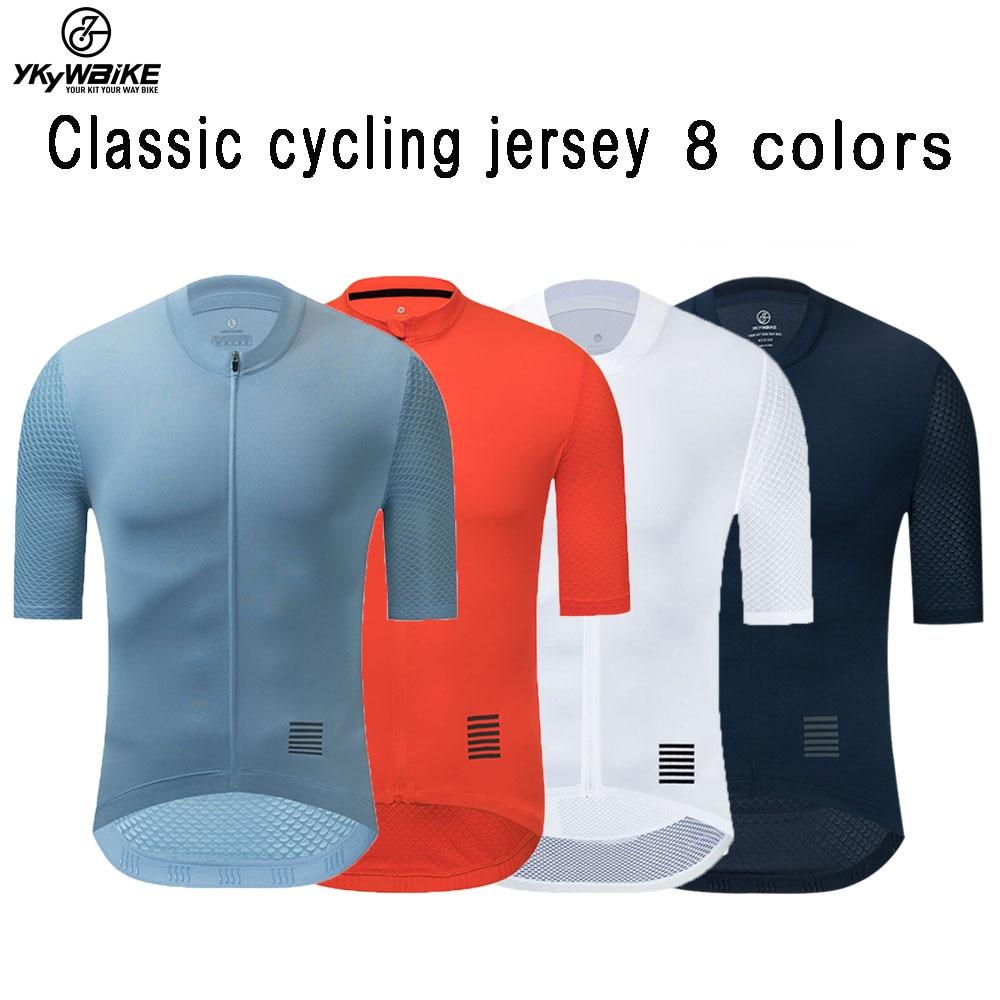 YKYWBIKE Men Cycling Jersey MTB Maillot Bike Shirt Downhill Jersey High Quality Pro Team Tricota Mountain Bicycle Clothing