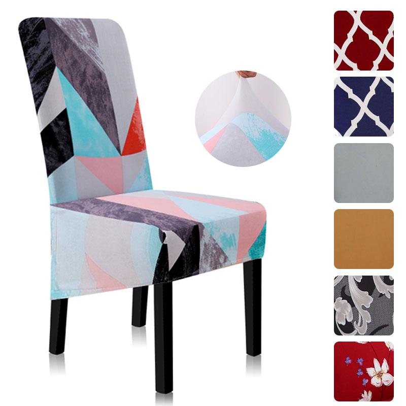 Fundas para sillas de comedor, fundas de LICRA para silla con plantas y flores, funda Universal elástica para silla A45013
