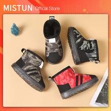 2021 winter new children's snow boots plus velvet non-slip boys waterproof cotton shoes girls short