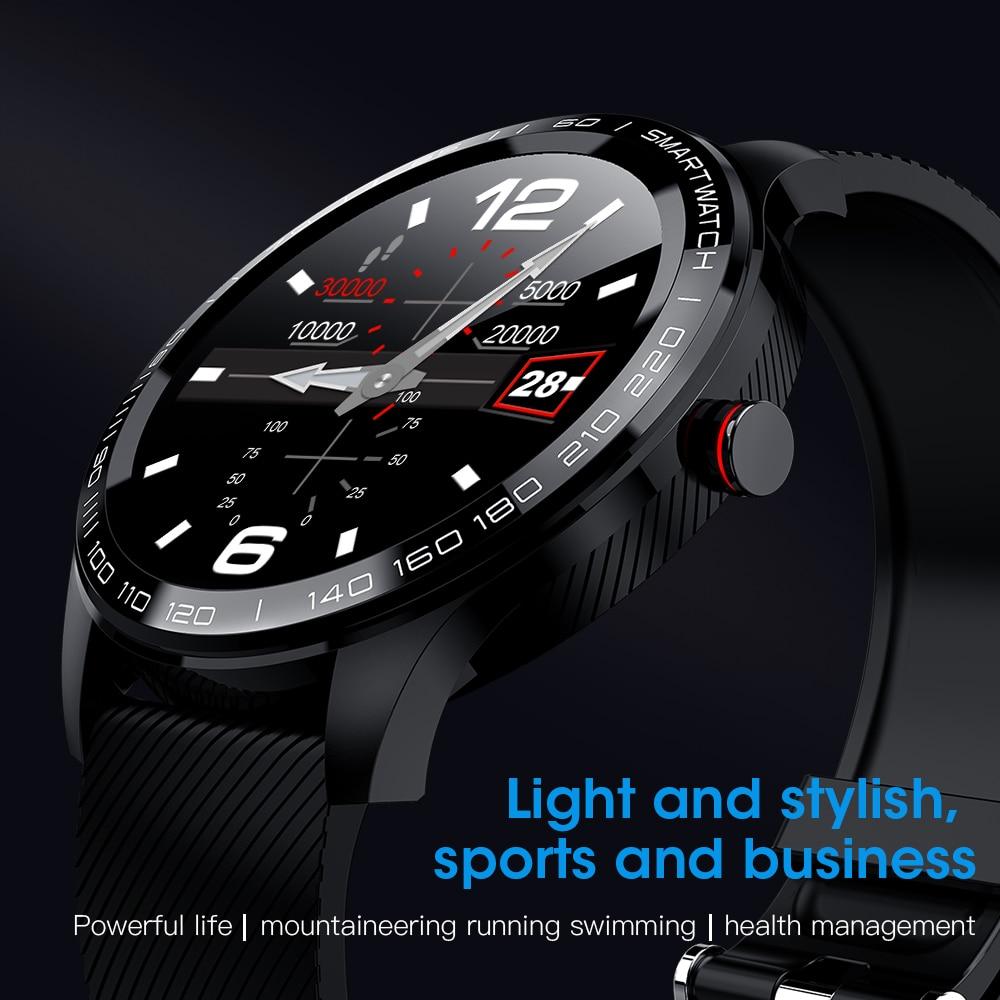 Reloj inteligente deportivo ECG + PPG de frecuencia cardíaca IP68, reloj inteligente resistente al agua, con control de la presión sanguínea y del oxígeno, pantalla táctil y Bluetooth