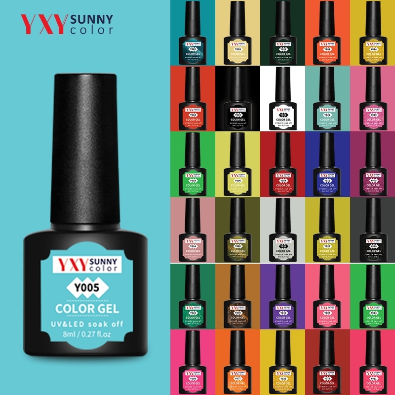 YXY Sunny Color Manicure Gel For UV LED Lamp Nail Varnishes Hot Sale Color Nail Polish Color Nail Ge