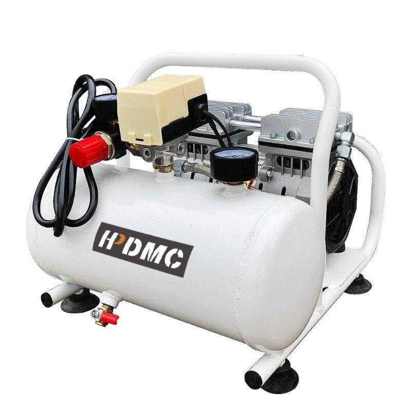 HPDMC-ضاغط هواء صامت طويل العمر ، مضخة خالية من الزيت ، 3.9 CFM @ 125PSI ، للجراج ، 2 جالون