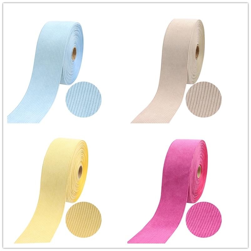 Q&N 3 pulgadas 75mm tela Corduroy cinta terciopelo capas Correa DIY artesanía accesorios para el cabello hágalo usted mismo gargantilla collar Material