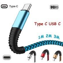 1-3M haute résistance Type C USB câble de chargeur rapide pour Samsung Galaxy S8 S9 S10 Plus 10 + Note A90 A80 A40 50 Huawei P30 P20