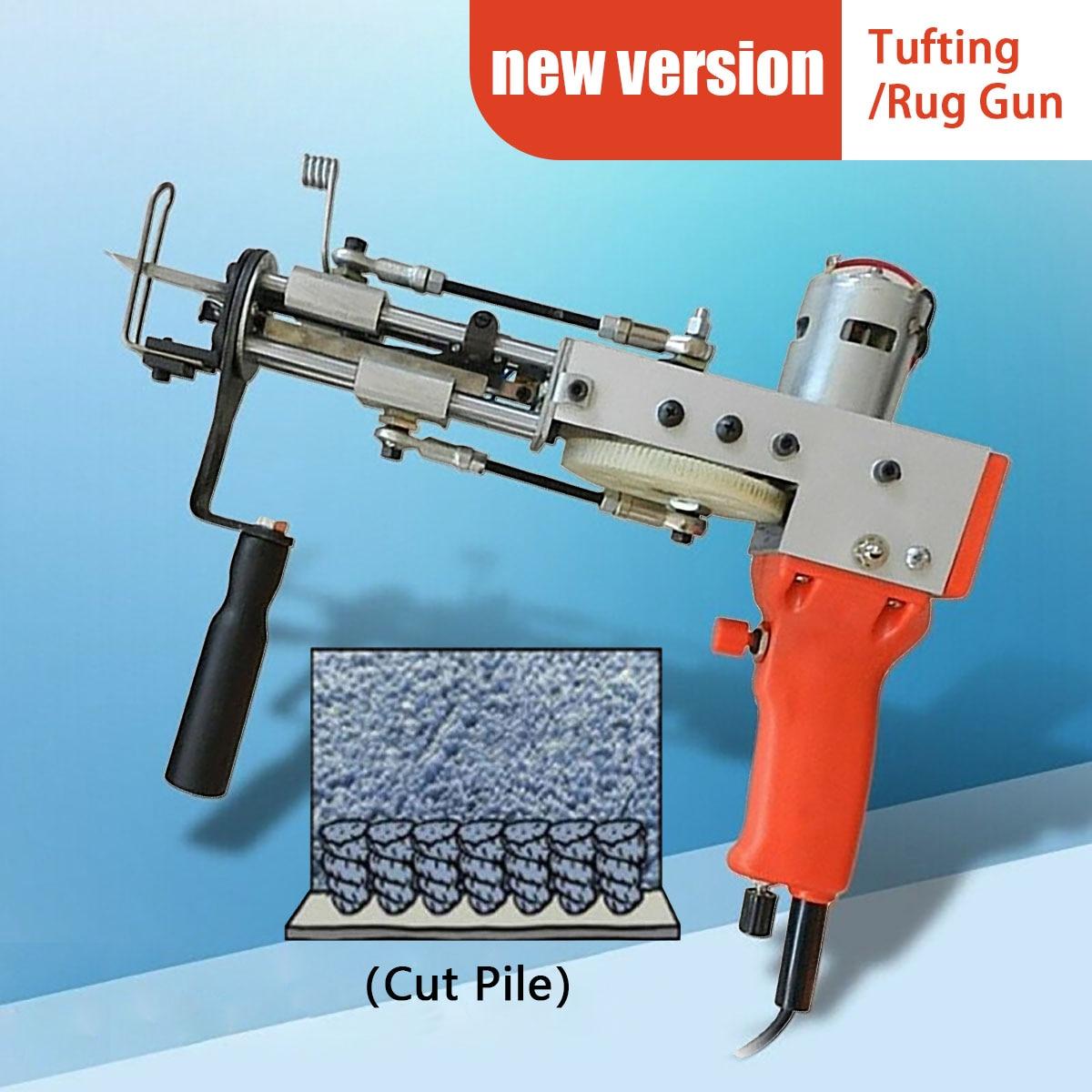 Máquina de Confecção de Malhas Industrial do Bordado para a Pilha do Corte Tufting a Arma do Tapete do Tapete Bonde Vermelho 110v Que