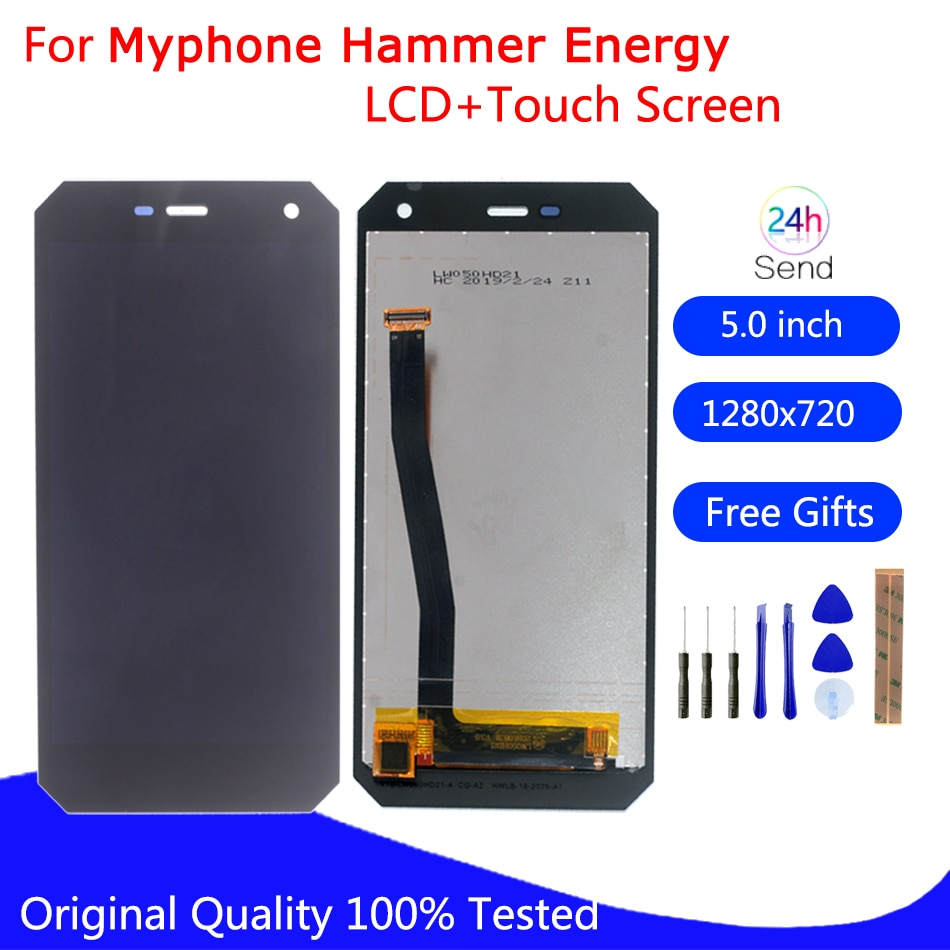 Pantalla LCD Original para myPhone Hammer Energy montaje de pantalla táctil digitalizador reemplazo del Panel de vidrio pantalla LCD herramientas gratuitas