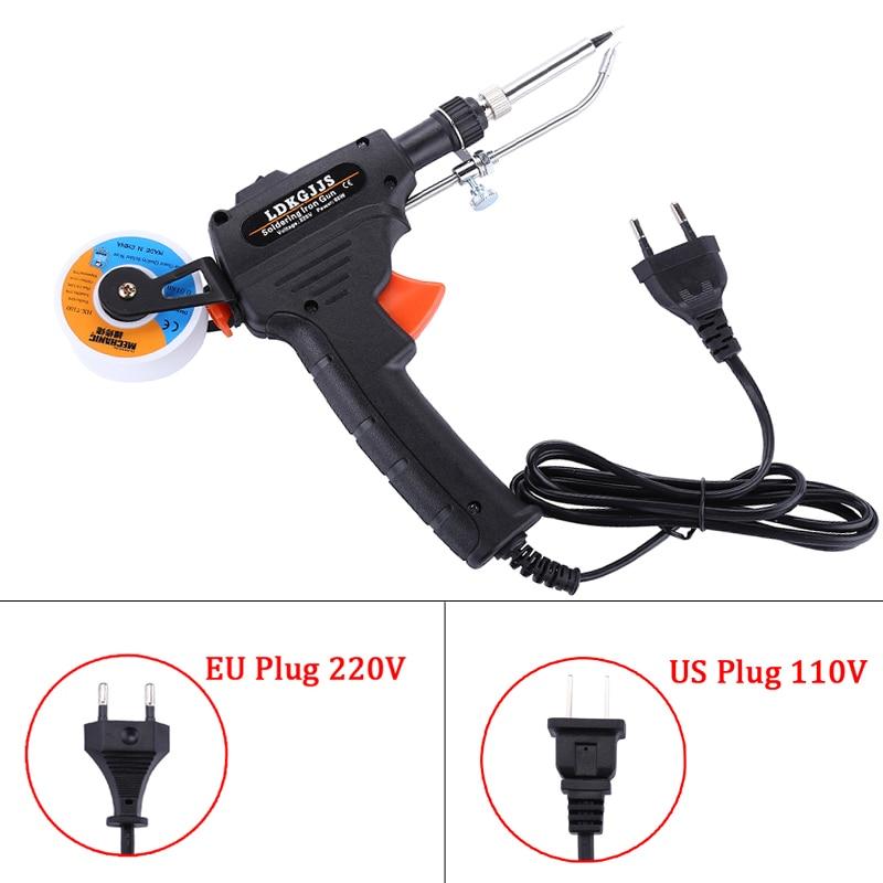110V/220V 60W Hand-held Electric Soldering Iron Internal Heating Soldering Gun Solda Automatically Send Tin BGA Welding Tools