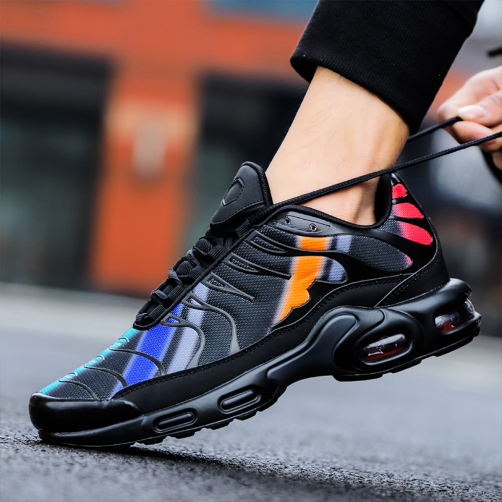 New high-end air cushion couple sports shoes, urban outdoor fitness jogging shoes, trendy fashion ca