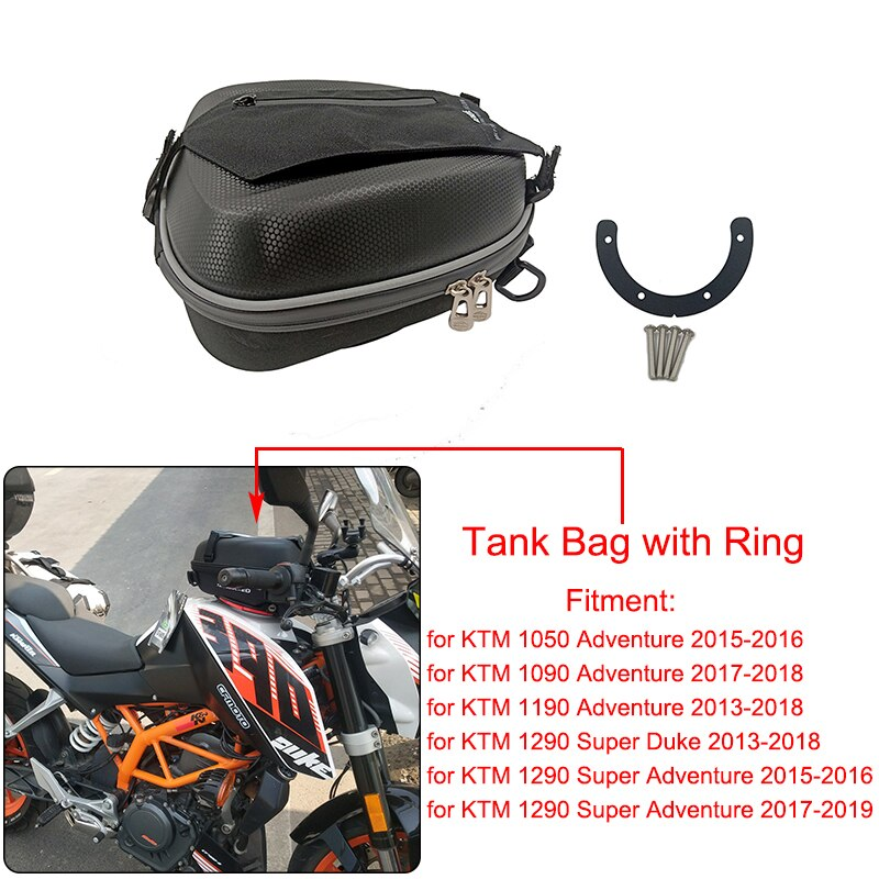 Conjunto completo de bolsas de tanque de combustible para motocicleta montaje de anillo de tanque directamente carcasa de llenado de combustible para KTM 1050 1090 1190 ADV 1290 Super Adventure