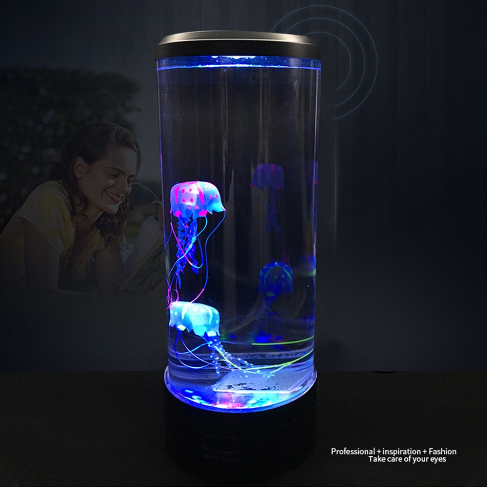 Светодиодный светильник для сна с гипнотической Медузой, изменяющей цвет аквариума, ночники, настольные украшения для дома, фантазийные на...