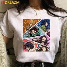 Camiseta de dibujos animados de Demon Slayer para hombre, camiseta de Kimetsu No Yaiba, camiseta de Anime japonés con gráfico, camisetas de Hip Hop, nueva