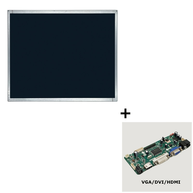 M170ETN01.1 17 بوصة 5:4 1000:1 30 دبوس واجهة LVDS شاشة LCD الصناعية لوحة العرض مع بطاقة التحكم