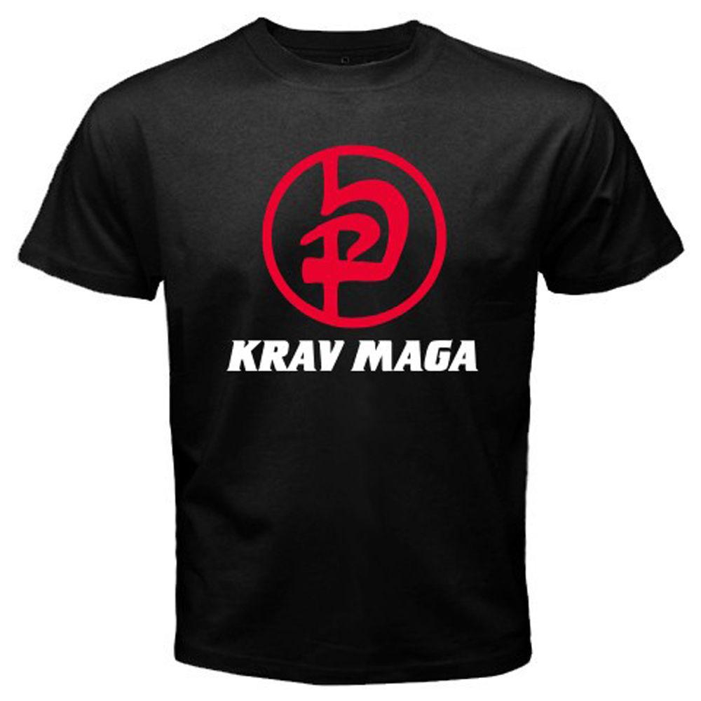 KRAV MAGA, Camiseta de algodón de manga corta con cuello redondo para...