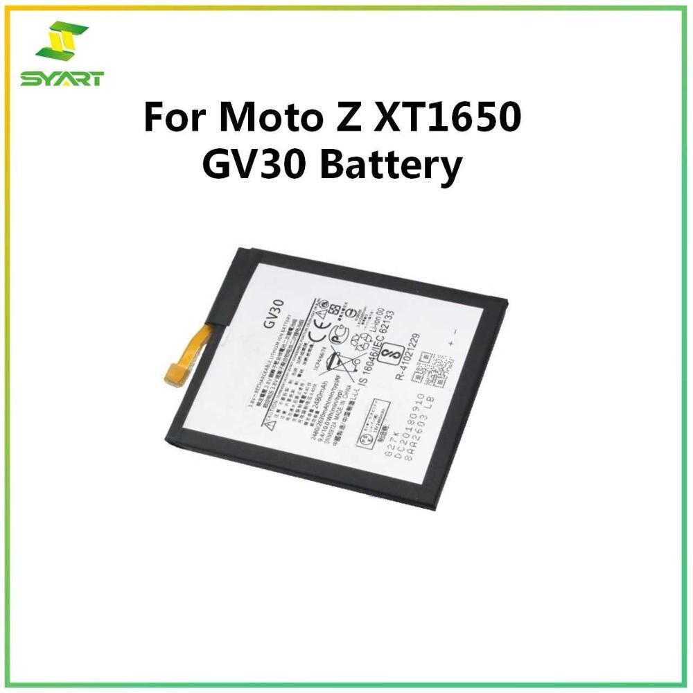 Reemplazo de batería Li gv30 para Motorola Moto Z XT1650-05 XT1650-01 XT1650-03 GV30 batería