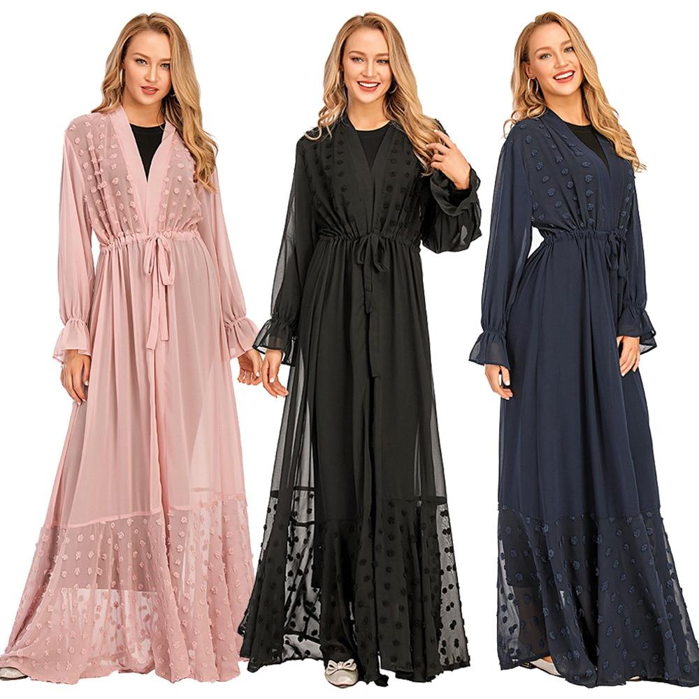 فستان سهرة طويل ماكسي للنساء المسلمات ، كيمونو ، كارديجان ، قفطان تركي ، ملابس إسلامية ، عباية دبي