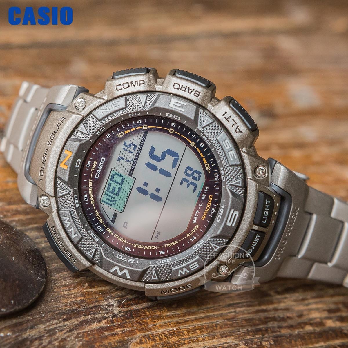 ساعة يد كوارتز رجالية عسكرية من كاسيو, ساعة رقمية رجالية من كاسيو طراز g ، مقاومة للصدمات بتصميم رياضي عسكري فاخر ، ساعة كوارتز للرجال