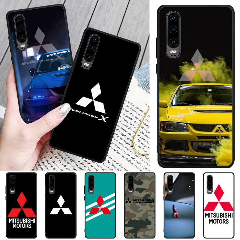 Funda de teléfono para coche Mitsubishi Motors, carcasa de marca de lujo...