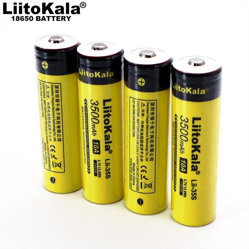 2020 nueva batería LiitoKala Lii-35S 18650 3,7 V 3500mAh batería de litio recargable para linterna LED + puntiagudo DIY