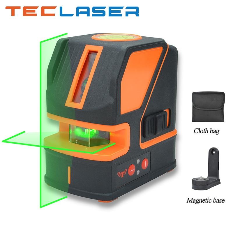 AliExpress - TECLASER 2 Lines Laser Level Green/Red Beam Self-leveling Cross Line Vertical Horizontal Nivel Level Measuring Instrument Tool