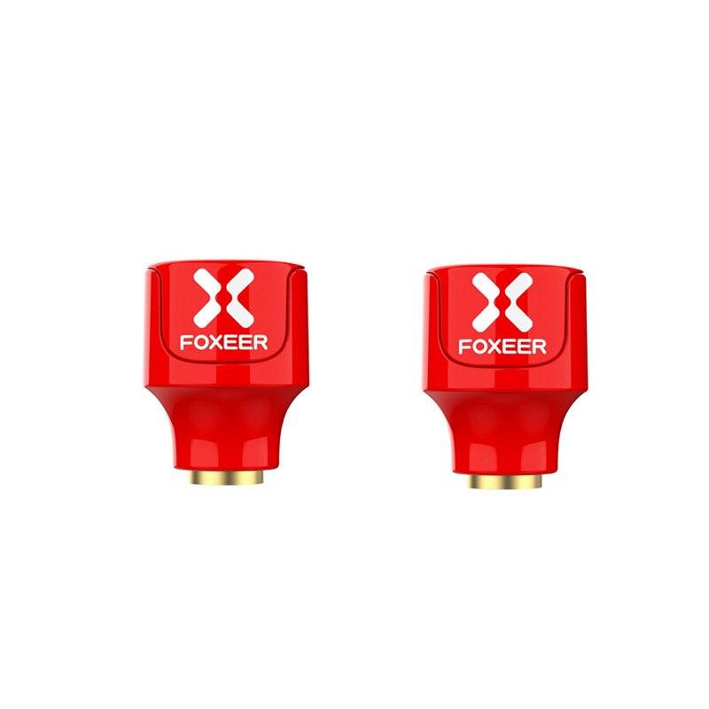 2pcs foxeer lollipop 3 stubby 5.8ghz 2.5dbi rhcp/lhcp omni RP-SMA macho vermelho fpv antena para rc corrida zangão peças de reposição rc accs