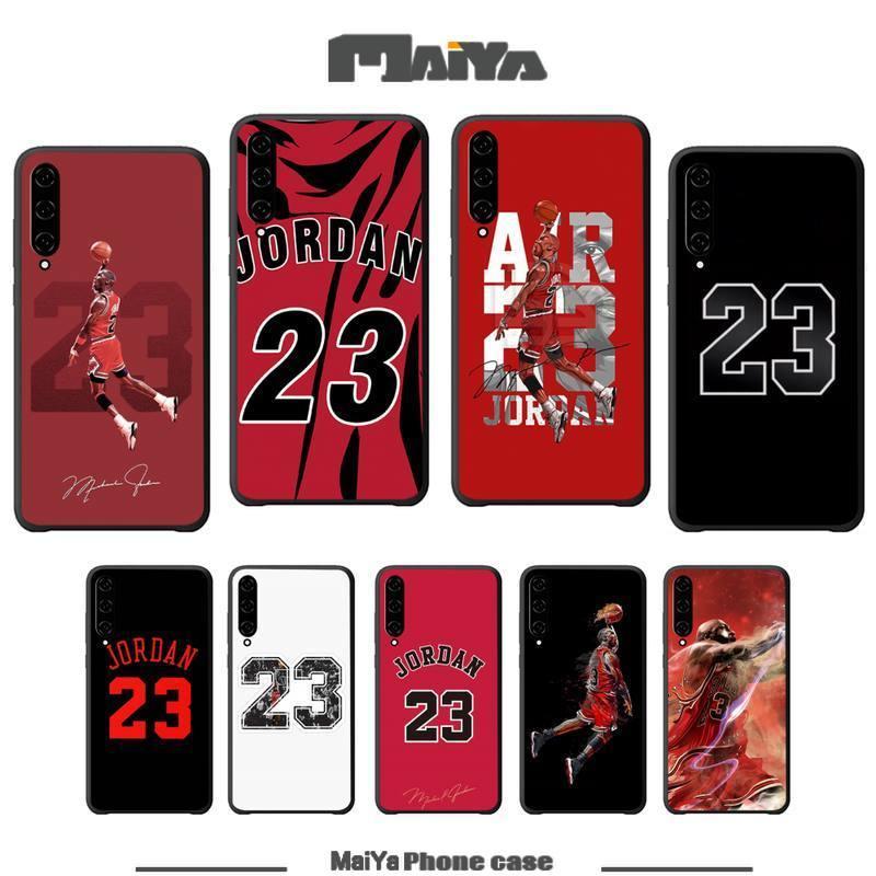 Michael baloncesto 23 Jordan negro funda de silicona, funda para Xiaomi mi A1 A2 6 8 9 t pro 10 lite Nota 10 cc9 pro Mix MAX 2 3 funda