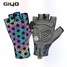 Giyo Colorful Luminous Half Finger Cycling Gloves Outdoor Sport Anti-slip MTB Mitten  Reflection Daz