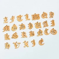10pcs stainless steel a z english letter charms gold 26 alphabet necklace pendant accessories for diy jewelry handmade supplies