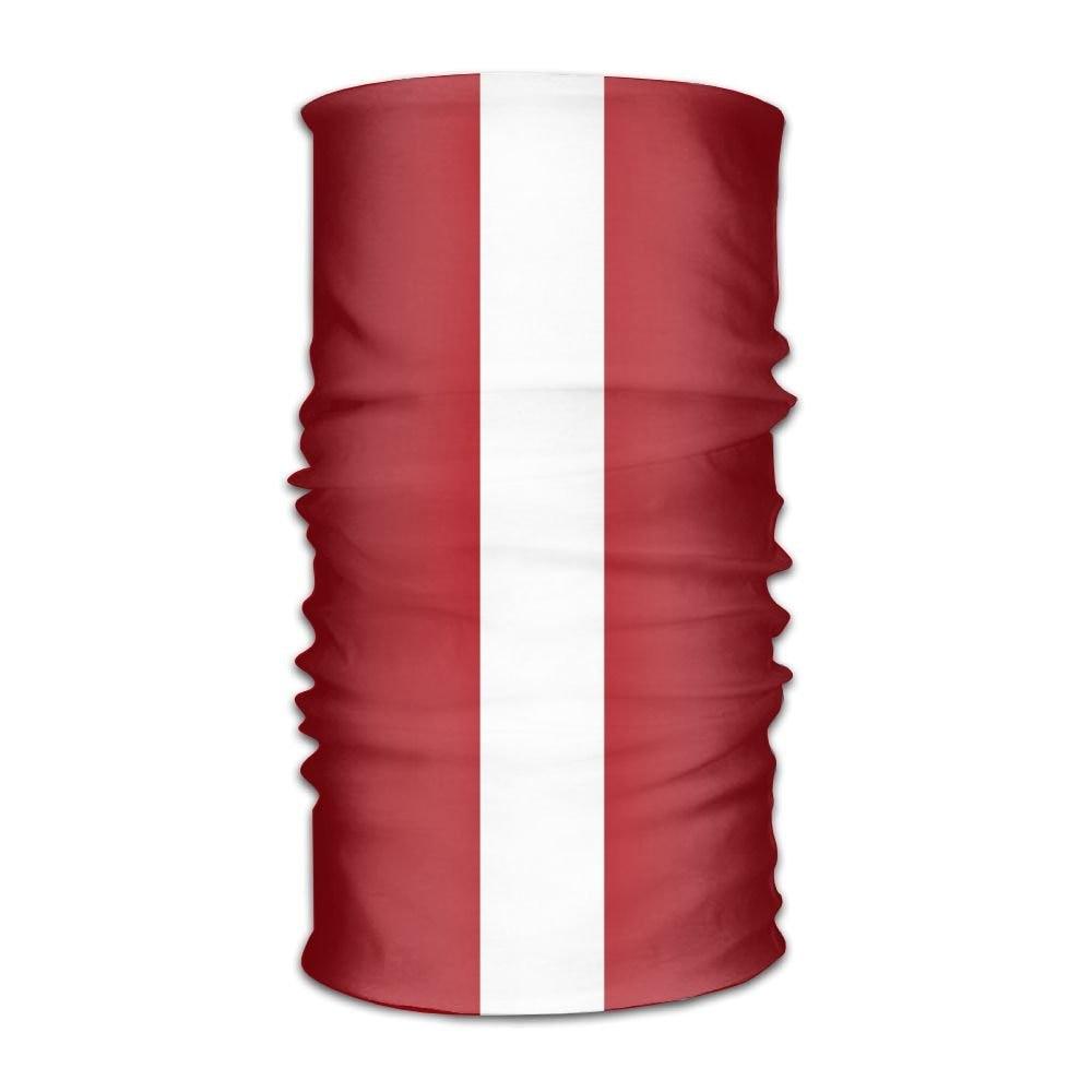 OHMYCOLOR rayas bandera de Letonia Headwrap de las mujeres de los hombres sombreros diadema bufanda de cuello elástico trapo de magia de la bufanda de la cabeza pañuelo diseño