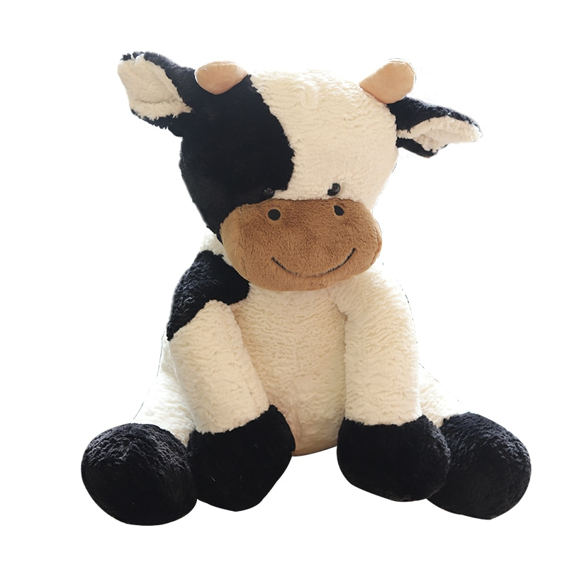 25/35/50cm Kawaii Sitting Milk Cow Plush Toys Lifelike Stuffed Animal Doll Cute Cattle Toys for Children Kids Christmas Gift  - buy with discount