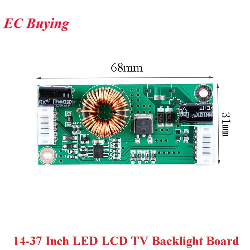 "14-37 Polegada led lcd tv backlight driver board constante atual step up módulo de impulso 14-37 ""lâmpada de luz de fundo placa universal"
