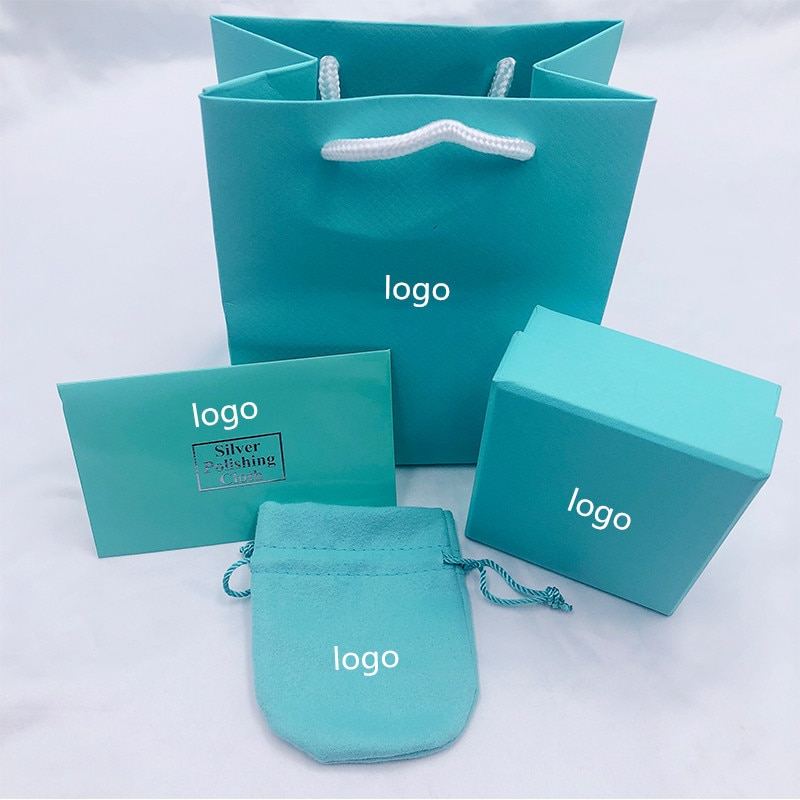 Collar TIFF, pulsera, paquete de joyería, caja de regalo