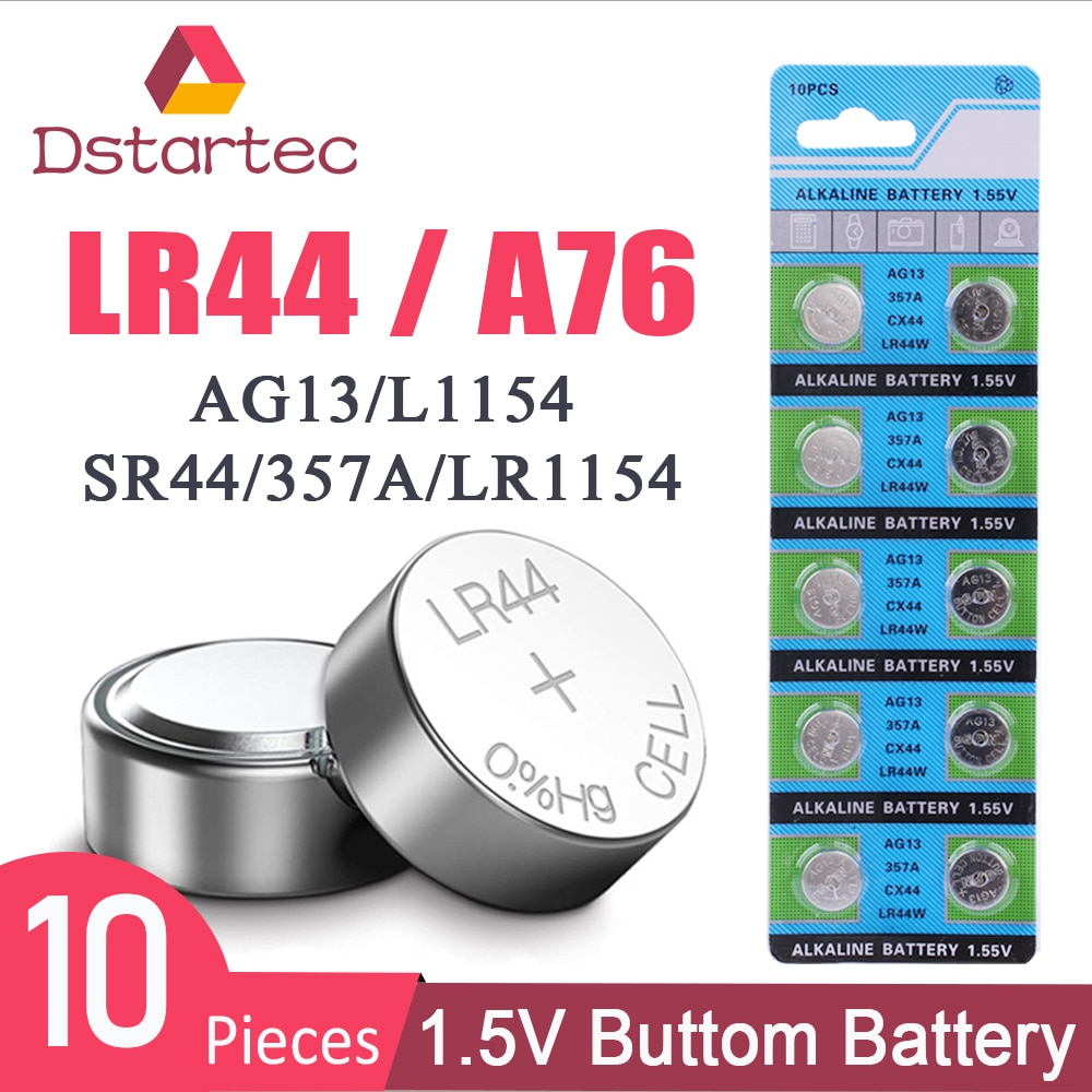 2020 NEW 10pcs 30mAh 1.55V AG13 LR44 L1154 RW82 SR1154 SP76 pila SR44 Button Batteries For Watch Toy