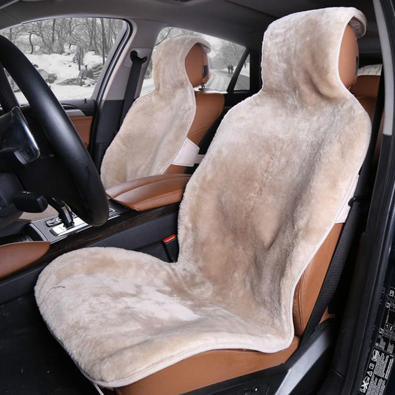 Un tamaño universal de piel de oveja natural capas de piel en la cubierta del asiento del coche del 100% australiano de piel de oveja Combo Kit para la priora del coche