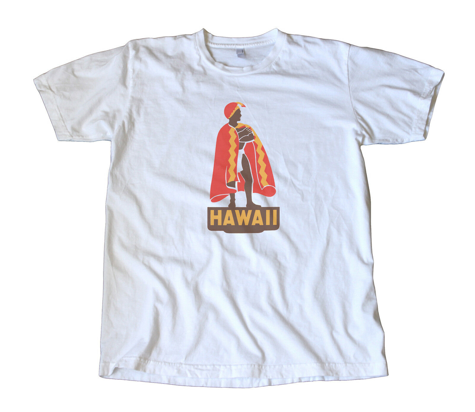 Hawaii Travel Decal T-Shirt - King Kamehameha, Maui, Honolulu, Islands